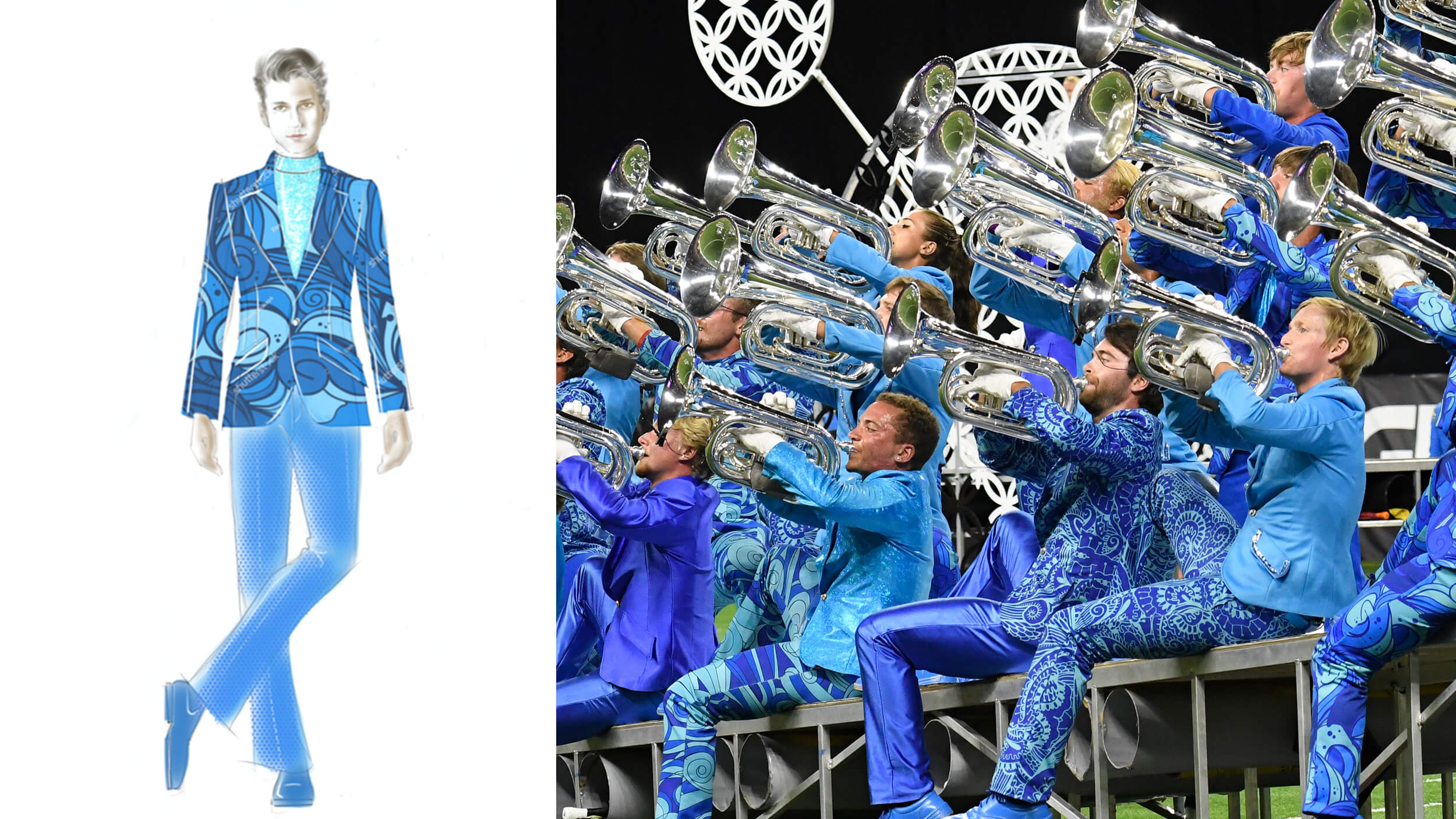 """Behind the look of """"The Bluecoats"""""""