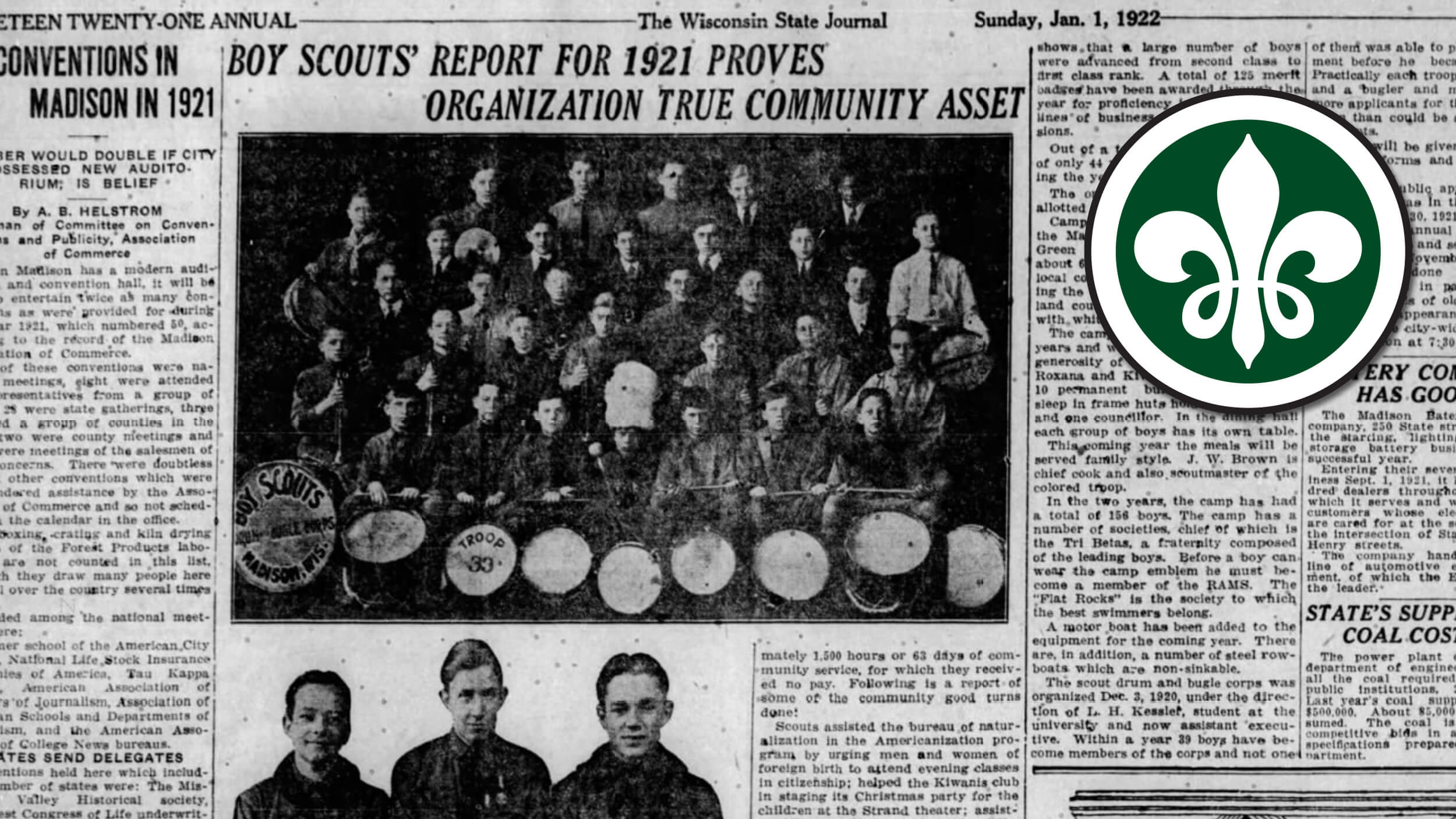 New find dates Madison Scouts back 100 years