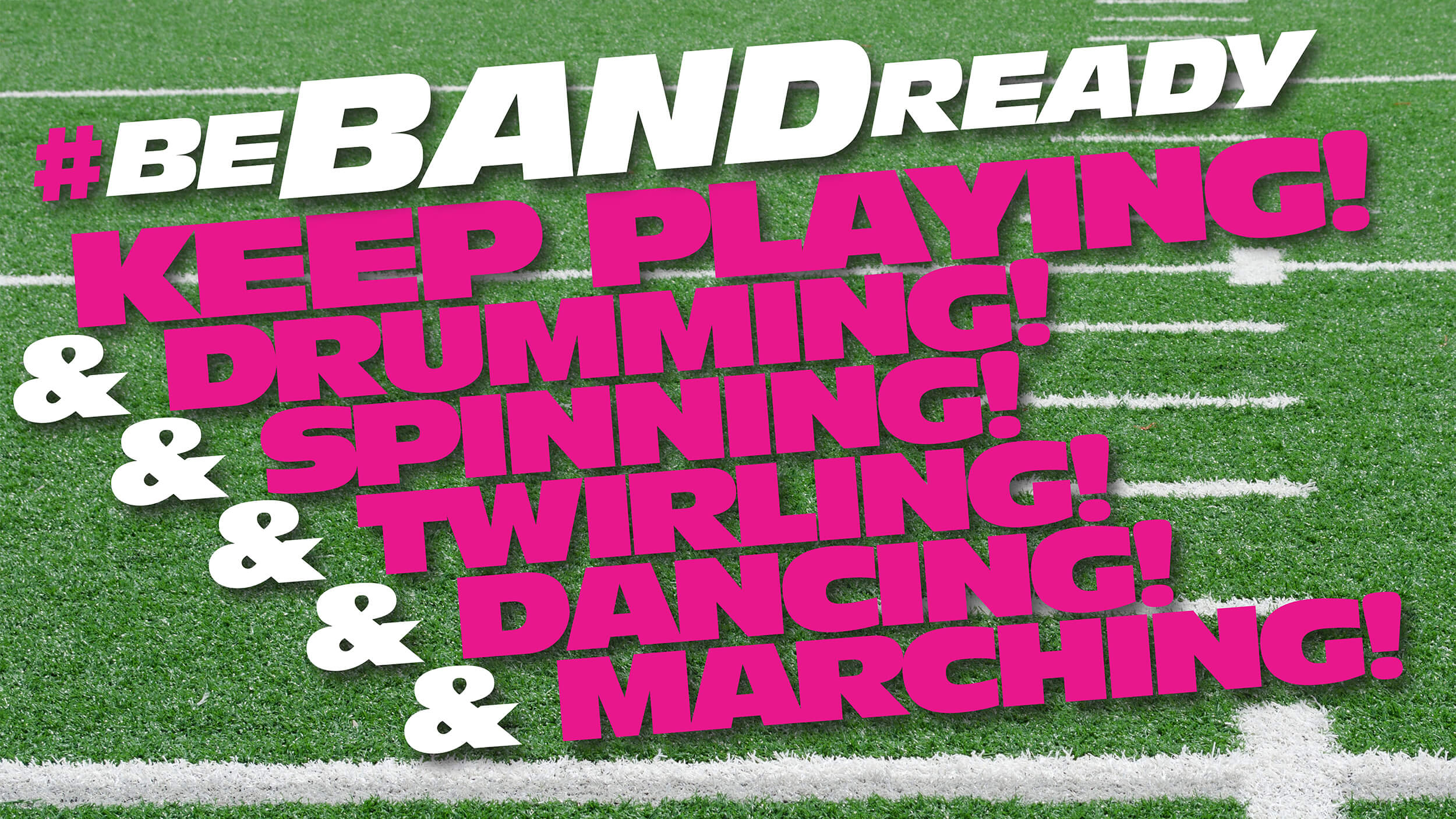 Global marching music community coming together to encourage students to #BeBandReady and #KeepPlaying