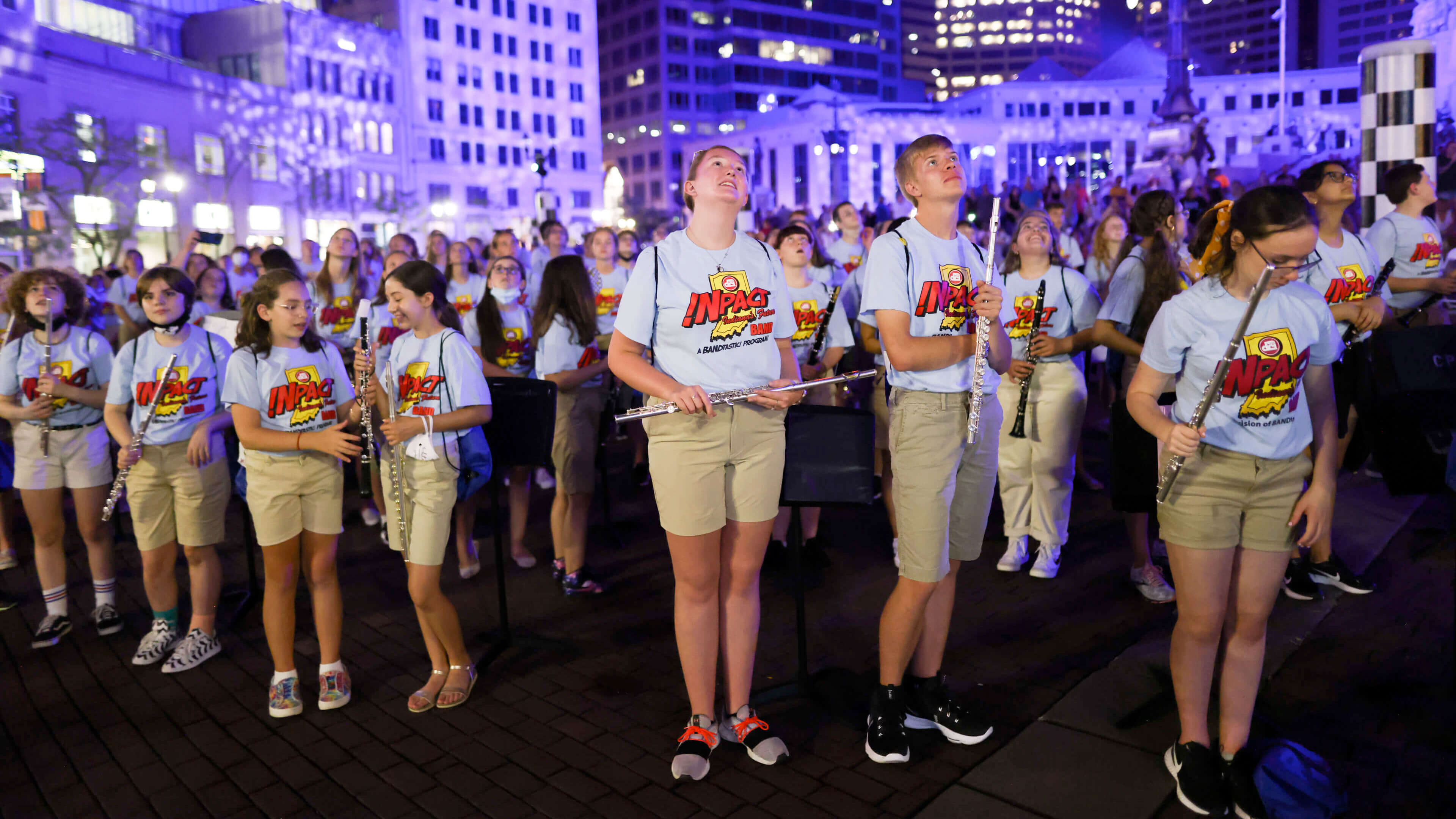 Lighting up Indy in support of music education